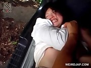 Tied up asian schoolgirl gets forced into rough sex