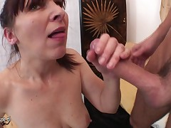 Mature mother fucked by lucky her son