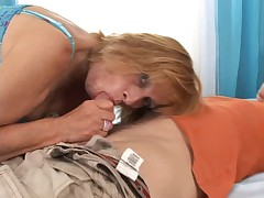 Hairy Granny with Younger Man