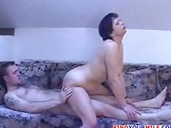 Mom and son home fuck
