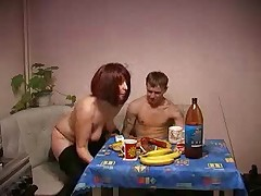 Amateur Russian  Mature Mother and her son