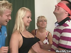 Hot teenie seduced by her BF's mom and dad