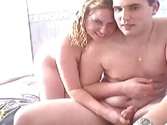 Brother and girl bang on webcam