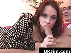 X helter-skelter pain in the neck redhead gives ancient suppliant a unerring blowjob