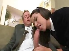 Young Schoolgirl Courtney james upskirt flannel riding with Old man
