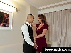 Roasting Cougar Tot Deauxma Fucks Limit Scholarship Alms-man regarding Guest-house