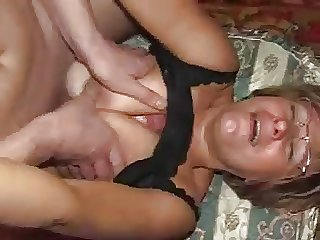 Blond russian mature uses young guy