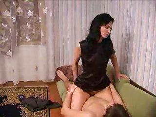 Russian mom fucking shy boy