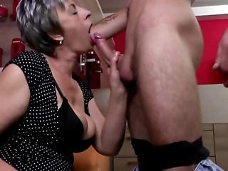 Granny bitches seduce cocky men