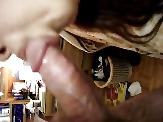 China wife is blowing a hard cock