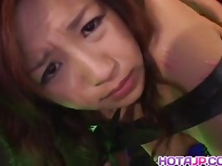 NAughty Asian milf Marin Hoshino has pussy teased with sex