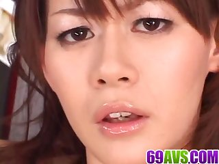 Asian milf, Rina Wakamiya, pumped in serious manners