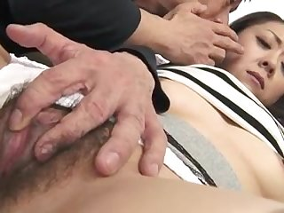 Hairy young pussy needs fingering and dildo play