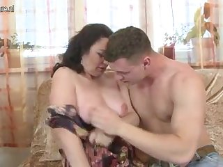 Hot mature mother fucks her son's best friend