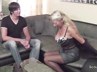 German 43yr old Step-Mom helps big Dick Step-Son First Fuck