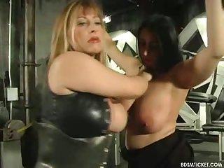 Bondaging up tits