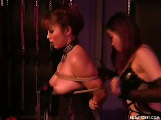 Asian mistress smiles