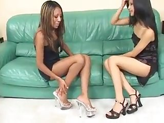 Asian lesbians on video
