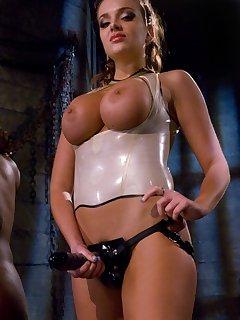 12 of Sado lady flogged and ass pumped a slaveman