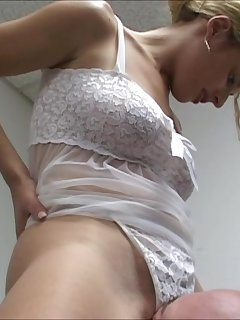 <!–-IMAGE_COUNT-–> of Locked Head Smothering the White Thong Panty
