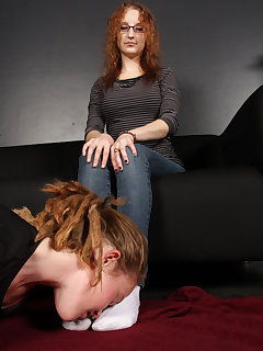 12 of Kat gets her smelly white socks appreciated by her slave girl