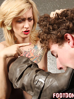 12 of Making Manchester gags her boots into her slave's mouth