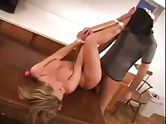 Girl bound and fucked