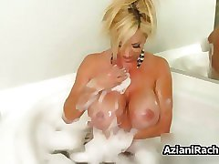 Sexy blonde babe gets horny rubbing feature 5