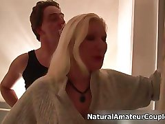 Petite blonde girl fucked for the first clip