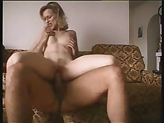 Blond MILF Fucking Younger Man With Facial